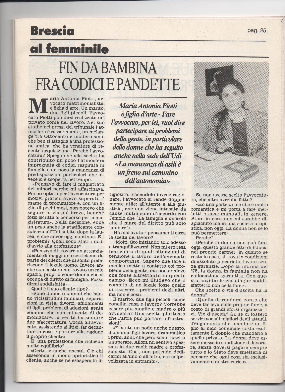 BRESCIA OGGI articolo