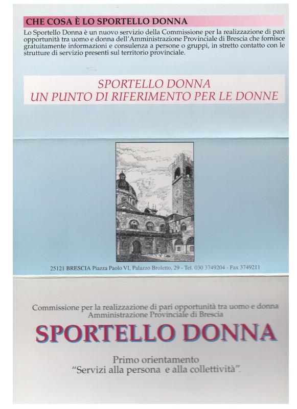 Sportello Donna brochure fronte