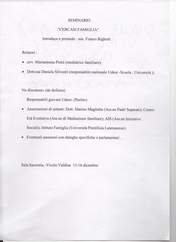 senato programma